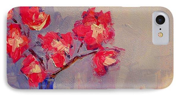 Magenta Flower Arrangement Phone Case by Patricia Awapara