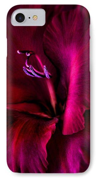 Magenta Gladiola Flower Phone Case by Jennie Marie Schell