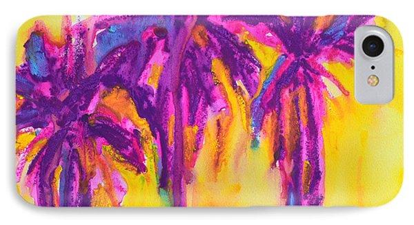 Magenta Palm Trees Phone Case by Patricia Awapara