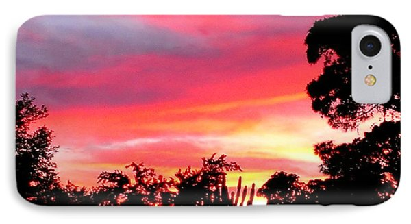 IPhone Case featuring the photograph Magenta Sunset by DigiArt Diaries by Vicky B Fuller