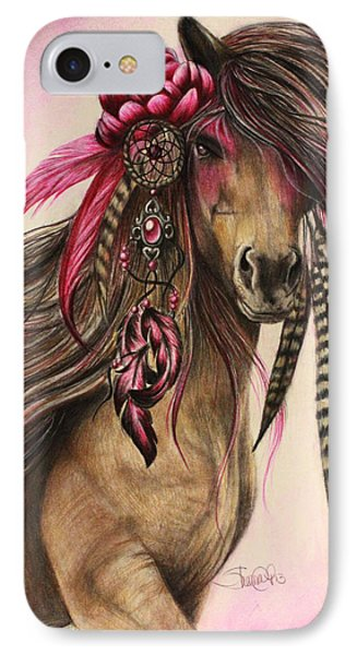 Magenta Warrior  IPhone Case by Sheena Pike