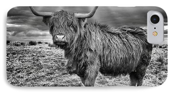 Magestic Highland Cow Phone Case by John Farnan