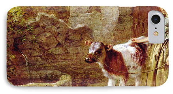 Cow iPhone 7 Case - Maggie's Charge by John H Dell