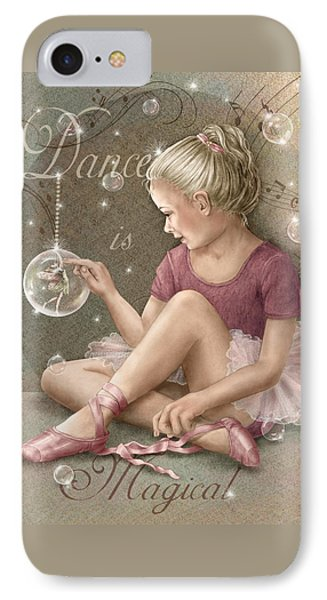 Magic Ballerina Phone Case by Beverly Levi-Parker