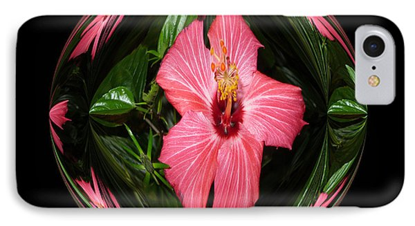 IPhone Case featuring the digital art Magic Hibiscus by Oksana Semenchenko