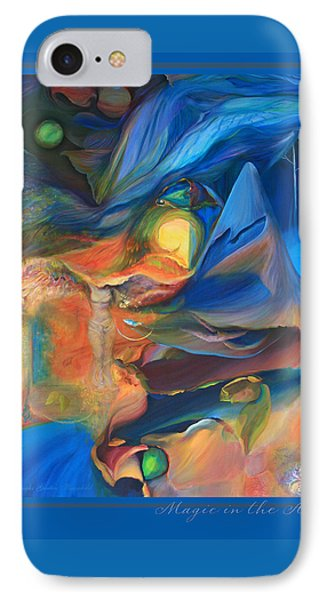 IPhone Case featuring the painting Magic In The Air - With Border And Title by Brooks Garten Hauschild