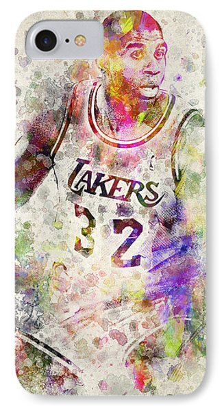 Magic Johnson Phone Case by Aged Pixel