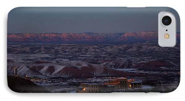 IPhone Case featuring the photograph Magic Light Red Rocks With Snow by Ron Chilston