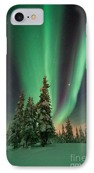 Magic Winter Night IPhone Case by Priska Wettstein
