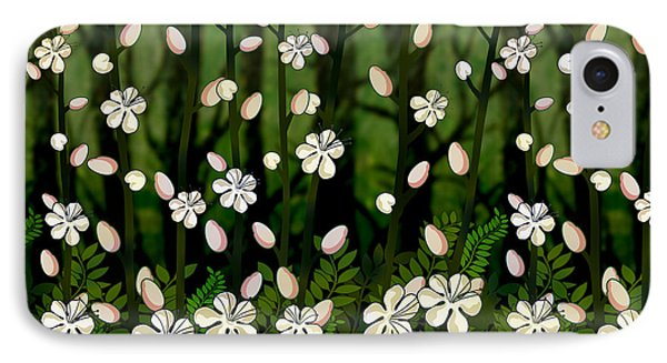 Magical Blooms Of The Deep Forest IPhone Case by Bedros Awak