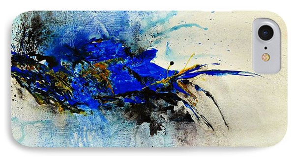 Magical Blue-abstract Art Phone Case by Ismeta Gruenwald