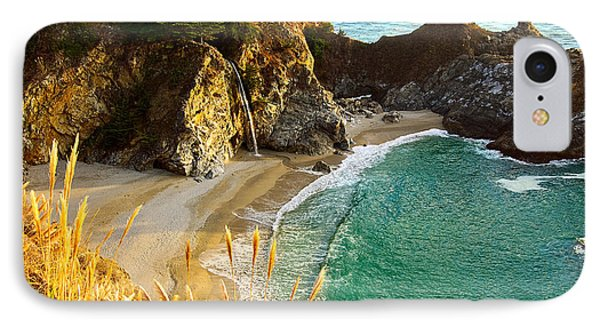 Magical Falls Of Mcway Waterfall At Julia Pfeiffer Burns State Park Phone Case by Jamie Pham