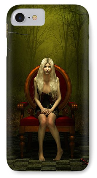 Magical Red Chair IPhone Case by Britta Glodde