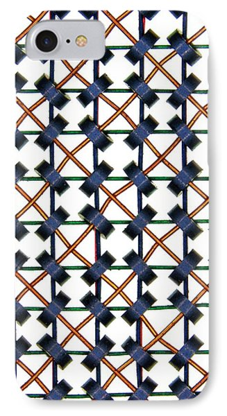 Magnetic-core Memory Array IPhone Case by Alfred Pasieka