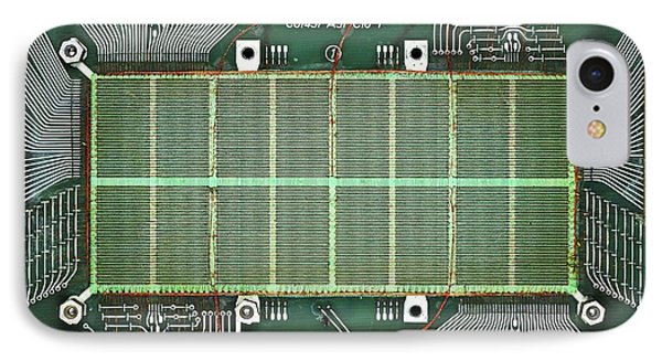 Magnetic-core Memory Of Siemens Computer IPhone Case by Pasieka
