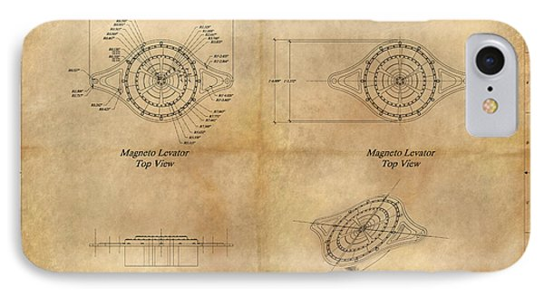 Magneto System Blueprint Phone Case by James Christopher Hill