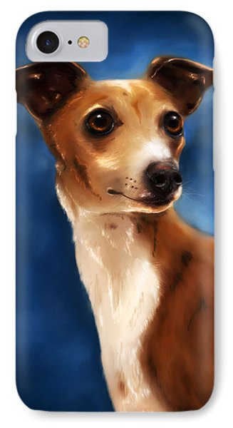 Magnifico - Italian Greyhound IPhone Case by Michelle Wrighton