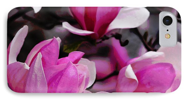 IPhone Case featuring the photograph Magnolia Blossoms by Olivia Hardwicke