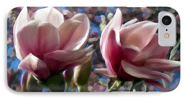 Magnolia Blossoms IPhone Case by Ric Darrell