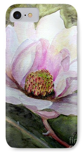 Magnolia In Bloom IPhone Case by Carol Grimes