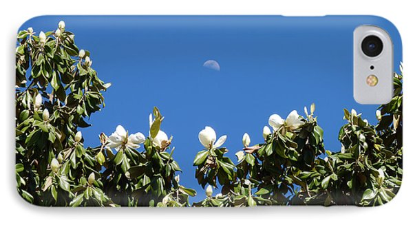 IPhone Case featuring the photograph Magnolia Moon by Meghan at FireBonnet Art
