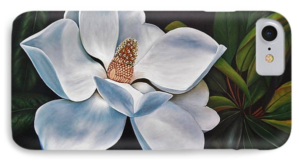 IPhone Case featuring the painting Magnolia by Paula L