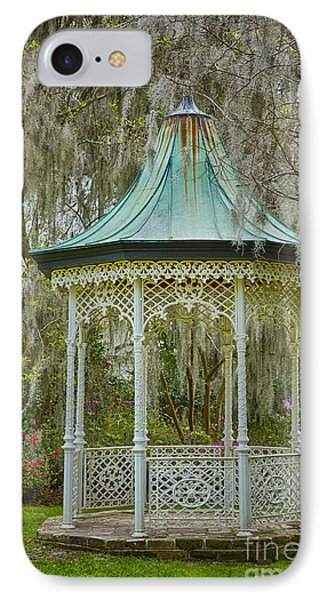Magnolia Plantation Gazebo IPhone Case by Carrie Cranwill