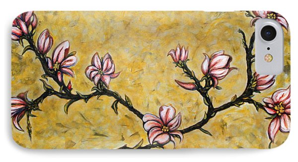 IPhone Case featuring the painting Magnolia by Rae Chichilnitsky