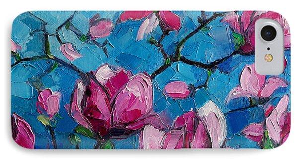 Magnolias For Ever IPhone Case by Mona Edulesco