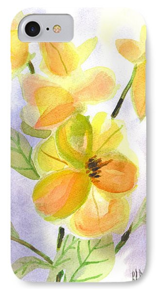 IPhone Case featuring the painting Magnolias Gentle by Kip DeVore
