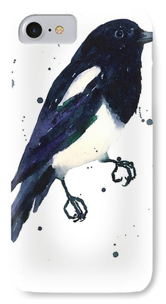 Magpie Painting IPhone 7 Case by Alison Fennell