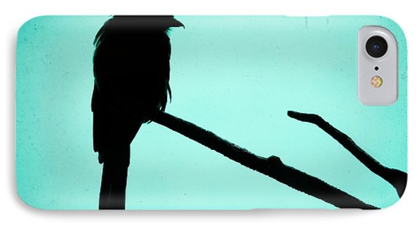 Magpie Shrike Silhouette IPhone 7 Case by Gary Heller