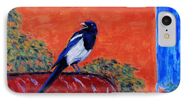 Magpie Singing At The Bath Phone Case by Xueling Zou