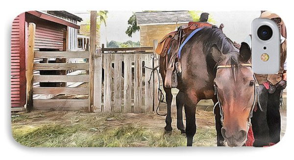 Mahaffie Stagecoach Stop And Farm Phone Case by Liane Wright