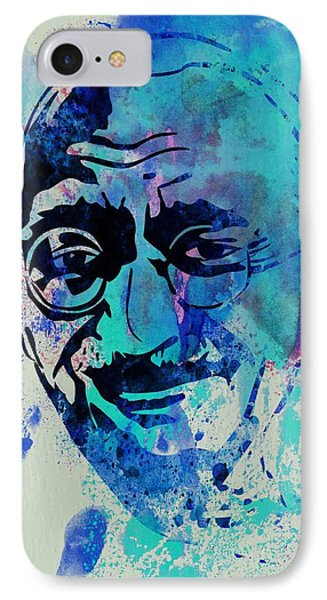 Mahatma Gandhi Watercolor IPhone Case by Naxart Studio