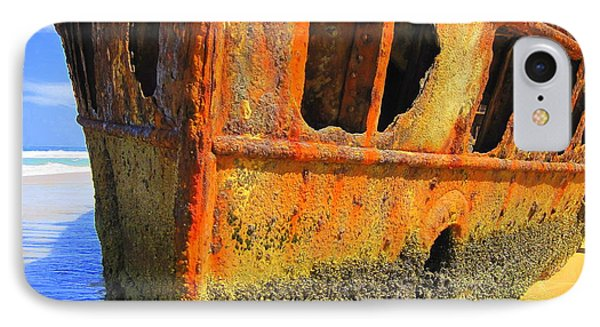 IPhone Case featuring the photograph Maheno Shipwreck by Ramona Johnston