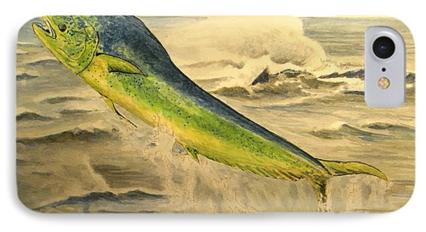 Mahi Mahi IPhone Case by Juan  Bosco