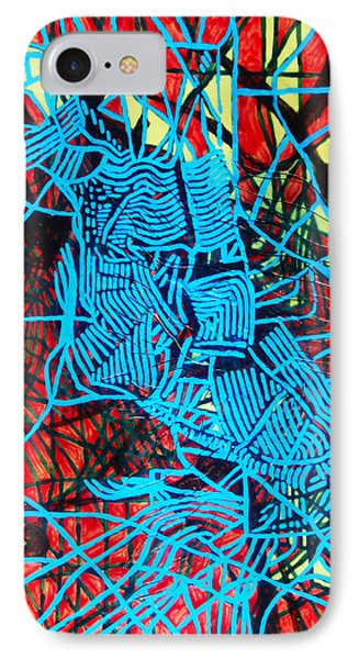 Maiden In Blue - Mary In The Temple Phone Case by Gloria Ssali