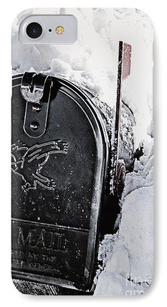 Mailbox Buried In Snow IPhone Case by Birgit Tyrrell