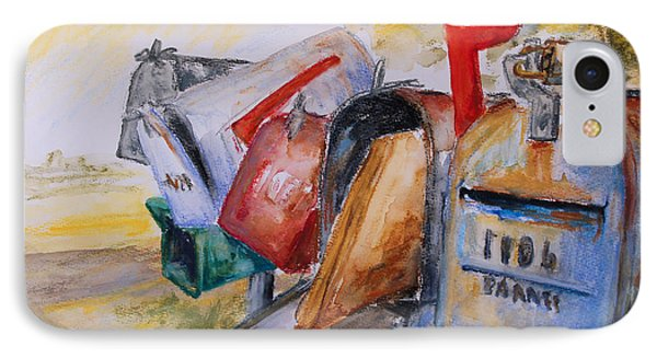 Mailboxes In Texas Phone Case by Barbara Pommerenke
