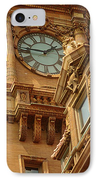 IPhone Case featuring the photograph Main St Station Clock Tower Richmond Va by Suzanne Powers