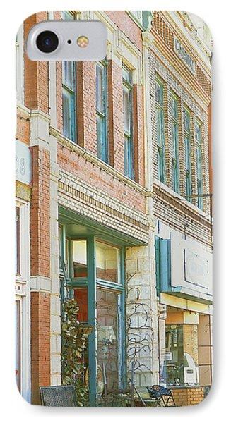 Main Street America Street Scene Photograph IPhone Case by Ann Powell