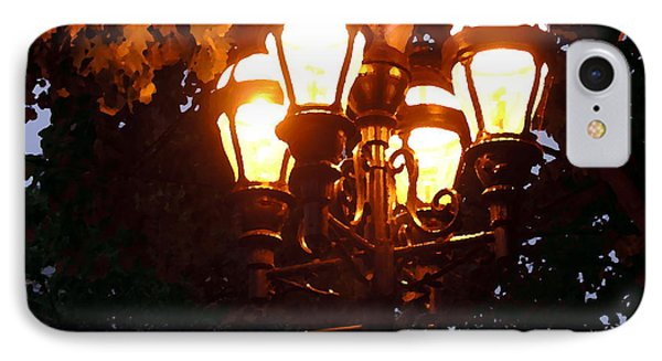 Main Street Gaslights - Abstract IPhone Case by Jacqueline M Lewis