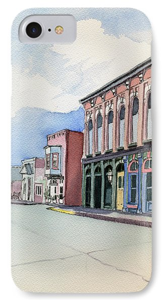 IPhone Case featuring the painting Main Street In Gosport by Katherine Miller
