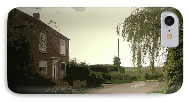 Main Street In Hollington, Heading Out Of The Village IPhone Case by Litz Collection