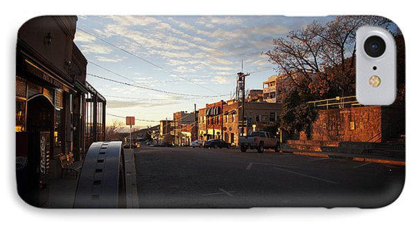IPhone Case featuring the photograph Main Street Jerome Arizona by Ron Chilston