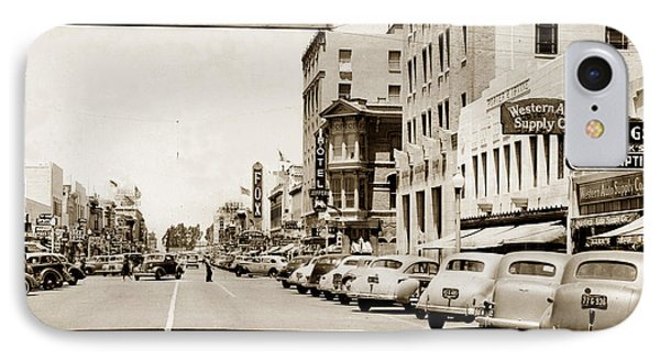 Main Street Salinas California 1941 IPhone Case by California Views Mr Pat Hathaway Archives