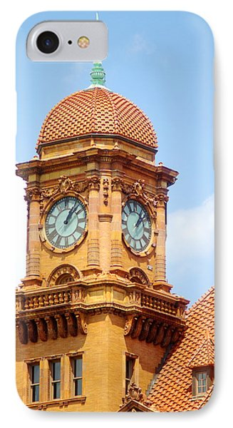 IPhone Case featuring the photograph Main Street Station Clock Tower Richmond Va by Suzanne Powers