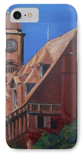 IPhone Case featuring the painting Main Street Station by Donna Tuten