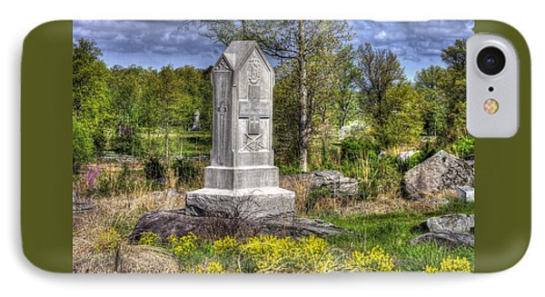 Maine At Gettysburg - 5th Maine Volunteer Infantry Regiment Just North Of Little Round Top Phone Case by Michael Mazaika